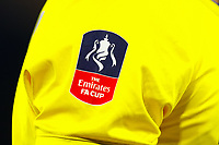 4th March 2020; King Power Stadium, Leicester, Midlands, England; English FA Cup Football, Leicester City versus Birmingham City; Detail of an FA Cup sleeve patch on a Birmingham City shirt