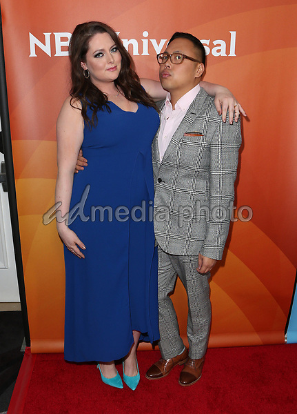 20 March 2017 - Beverly Hills California - Lauren Ash, Nico Santos. 2017 NBCUniversal Summer Press Day held at The Beverly Hilton Hotel. Photo Credit: AdMedia