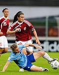Petra Hogewoning, Katrine Veje, Women's EURO 2009 in Finland.Denmark-Netherlands, 08292009, Lahti Stadium
