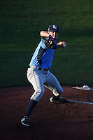 Charlotte Stone Crabs pitcher Chris Kirsch (29) delivers a pitch during a game against the Bradenton Marauders on April 22, 2015 at McKechnie Field in Bradenton, Florida.  Bradenton defeated Charlotte 7-6.  (Mike Janes/Four Seam Images)