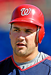 18 March 2007: Washington Nationals third baseman Ryan Zimmerman awaits his turn in the batting cage prior to facing the Florida Marlins at Space Coast Stadium in Viera, Florida...Mandatory Photo Credit: Ed Wolfstein Photo