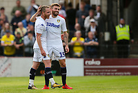 Leeds United's Stuart Dallas congratulates Adam Forshaw after he scored his side's fifth goal<br /> <br /> Photographer Alex Dodd/CameraSport<br /> <br /> Football Pre-Season Friendly - York City v Leeds United - Wednesday 10th July 2019 - Bootham Crescent - York<br /> <br /> World Copyright © 2019 CameraSport. All rights reserved. 43 Linden Ave. Countesthorpe. Leicester. England. LE8 5PG - Tel: +44 (0) 116 277 4147 - admin@camerasport.com - www.camerasport.com