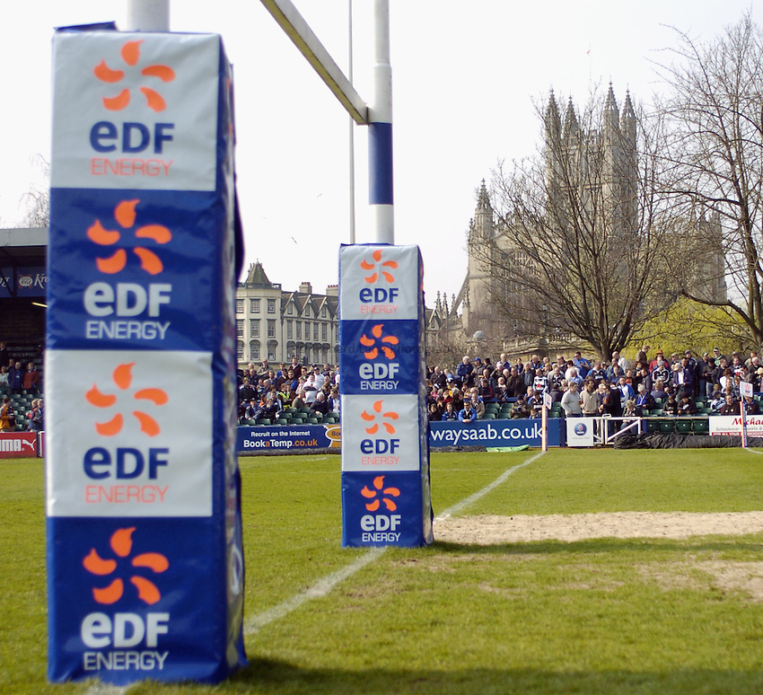 Photo: Jonathan Butler..Bath Rugby v Bristol Rugby. European Challenge Cup. 31/03/2007..Recreation Ground, General view. EDF branding.