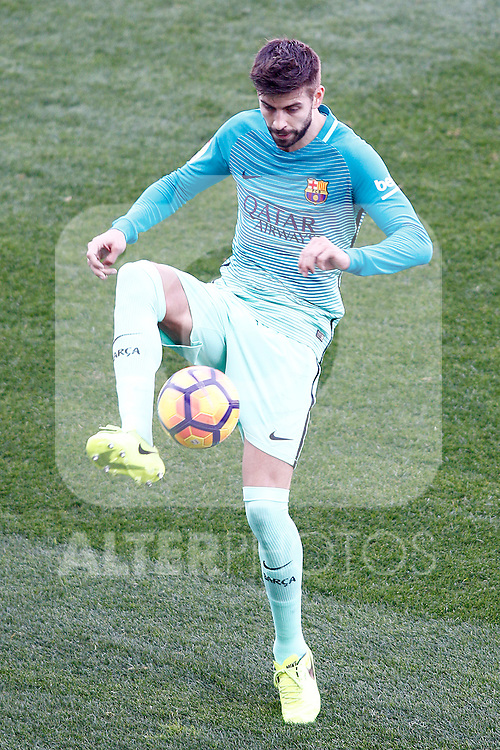 FC Barcelona's Gerard Pique during La Liga match. February 26,2017. (ALTERPHOTOS/Acero)