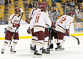 Johnny Gaudreau (BC - 13), Brian Dumoulin (BC - 2), Patrick Wey (BC - 6), Pat Mullane (BC - 11), Kevin Keenan, Paul Carey (BC - 22) - The Boston College Eagles defeated the Providence College Friars 4-2 in their Hockey East semi-final on Friday, March 16, 2012, at TD Garden in Boston, Massachusetts.