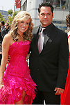 LOS ANGELES, CA. - September 13: Actress Paige Hemmis and Actor John Littlefield arrive at the 60th Primetime Creative Arts Emmy Awards held at Nokia Theatre on September 13, 2008 in Los Angeles, California.