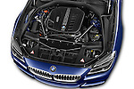 Car stock 2015 BMW 6 Series M Sport 2 Door Coupe engine high angle detail view