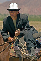 The Kirgiz (also spelled Kyrgyz) are a Turkic ethnic group found primarily in Kyrgyzstan and are predominantly Sunni Muslims. There are approximately 160,000 living in China's Xinjiang Uygur Autonomous Region. They are herders and horsemen and settled in this region centuries ago..