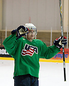 Cade Fairchild (US Blue - 2) - US players take part in practice on Friday morning, August 8, 2008, in the NHL Rink during the 2008 US National Junior Evaluation Camp and Summer Hockey Challenge in Lake Placid, New York.