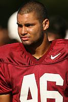 23 August 2006: Robert Polk during football practice at the Elliot Practice Field in Stanford, CA.