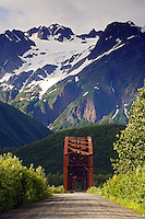Million Dollar Bridge, Cordova, Copper River Delta, Chugach National Forest, Alaska.