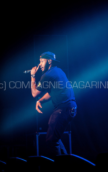 Concert of the English hiphop band Dizzee Rascal at the Crammerock festival (Belgium, 06/09/2014)