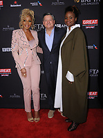 06 January 2018 - Beverly Hills, California - Mary J. Blige, Ted Sarandos, Dee Rees. 2018 BAFTA Tea Party held at The Four Seasons Los Angeles at Beverly Hills in Beverly Hills.    <br /> CAP/ADM/BT<br /> &copy;BT/ADM/Capital Pictures