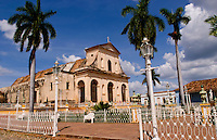Square city center in front of Cathedral in Trinidad Cuba