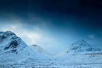 Buachaille Etive Beag and the Lairig Gartain, Glencoe, Highland