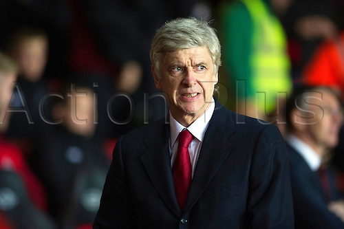 01.01.2013 Southampton, England.  Arsenal's manager Arsène Wenger during the Premier League game between Southampton and Arsenal at St Mary's Stadium.