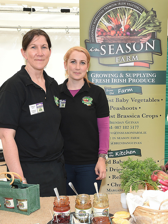 Margaret Guinan and Cathy Joyce from In Season Farm pictured at the Taste of Meath at Oldbridge House open day. Photo:Colin Bell/pressphotos.ie