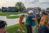 Brooks Koepka (USA) is congratulated for winning the 100th PGA Championship at Bellerive Country Club, St. Louis, Missouri. 8/12/2018.<br /> Picture: Golffile | Ken Murray<br /> <br /> All photo usage must carry mandatory copyright credit (&copy; Golffile | Ken Murray)