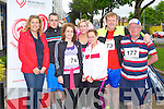 10KM RUN: Taking part in the Irish Heart Foundation 10km run at the Brandon hotel, Tralee on Saturday l-r: Anne Riordan (Irish Heart Foundation), Chris Foley, Denise O'Connor, Fiona O'Connell, Siobhan O'Connell, Alan O'Connell and John O'Connell.