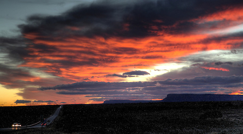 The setting sun provides spectacular color in Southern Utah