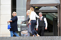 DO NOT USE, NEEDS TO BE IDENTIFIED<br /> Pictured: People from Austin Ross's family leave Newport crown court, after a sentencing of 6 years is given. Tuesday 21 August 2018. <br /> Re: Austin Ross, 23, admitted setting fire to a masonic hall and school in Newport and daubing graffiti at a number of locations in the city.
