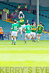 Gary Sayers wins the high ball against Limerick in the Munster Junior Championship Semi final held in the Gaelic Grounds last Saturday.