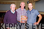 Pictured at the Noonan's of Templeglantine Christmas Lights for charity Fundraising Dance on Saturday night in the Railway Bar Abbeyfeale were L-R: Dick Fitzgerald, Railway Bar Abbeyfeale, Tony Noonan, Templeglantine and Tom Fitzgerald, Railway Bar Abbeyfeale.