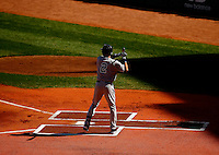 Derek Jeter #2 of the New York Yankees stands at home platein the first inning prior to his first at bat against the Boston Red Sox at Fenway Park in his final career game on September 27, 2014 in Boston, Massachusetts. (Photo by Jared Wickerham for the New York Daily News)