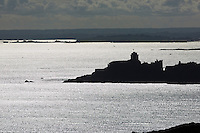 France, Côtes-d'Armor (22), Côte d'Emeraude, Plévenon, Fort-la-Latte vu depuis le haut du phare du Cap Fréhel  // / France, Brittany, Cotes-D'Armor,  Emeraude coast , Fort-la-Latte seen from the top of the lighthouse of Cap Frehel