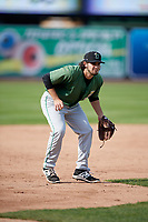 Clinton LumberKings designated hitter Joe Rizzo (10) during practice before a game against the West Michigan Whitecaps on May 3, 2017 at Fifth Third Ballpark in Comstock Park, Michigan.  West Michigan defeated Clinton 3-2.  (Mike Janes/Four Seam Images)