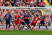24th March 2018, Anfield, Liverpool, England; LFC Foundation Legends Charity Match 2018, Liverpool Legends versus FC Bayern Legends; Robbie Fowler of Liverpool Legends fires in a shot from the edge of the FC Bayern Legends area