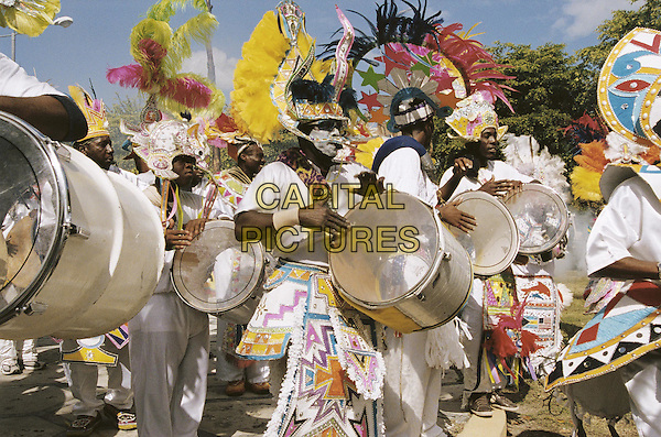 JUNKANOO PRACTICE IN THE BAHAMAS.in After The Sunset.Filmstill - Editorial Use Only.CAP/AWFF.supplied by Capital Pictures.