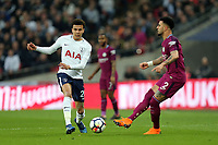 Dele Alli of Tottenham Hotspur and Kyle Walker of Manchester City during Tottenham Hotspur vs Manchester City, Premier League Football at Wembley Stadium on 14th April 2018