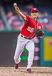 19 September 2015: Washington Nationals pitcher Jonathan Papelbon closes out the game against the Miami Marlins at Nationals Park in Washington, DC. The Nationals defeated the Marlins 5-2 in the third game of their 4-game series. Mandatory Credit: Ed Wolfstein Photo *** RAW (NEF) Image File Available ***