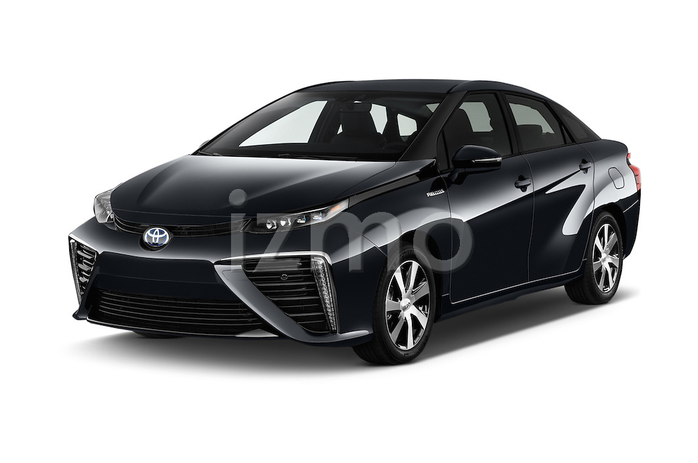 2016 Toyota Mirai Mirai 4 Door Sedan Angular Front stock photos of front three quarter view