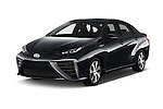 2017 Toyota Mirai Mirai 4 Door Sedan Angular Front stock photos of front three quarter view