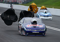 Jun 20, 2015; Bristol, TN, USA; NHRA pro stock driver Jason Line during qualifying for the Thunder Valley Nationals at Bristol Dragway. Mandatory Credit: Mark J. Rebilas-