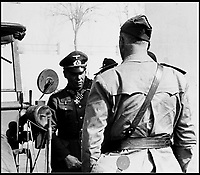 BNPS.co.uk (01202 558833)Pic:    Pen&Sword/BNPS<br /> <br /> General Rommel seen with an Italian general.<br /> <br /> Fascinating rare photos of Rommel's feared Afrika Korps which terrorised the Allies in the desert have come to light in a new book.<br /> <br /> Under the direction of legendary German commander Field Marshal Erwin Rommel, who was nicknamed the Desert Fox, the corps were recognised as a superb fighting machine.<br /> <br /> They achieved their greatest triumph when they outmanoeuvred the British at the Battle of Gazala in June 1942 which led to them capturing Tobruk in Libya.<br /> <br /> But they were ultimately defeated in the iconic Battle of Alamein when they succumbed to an offensive led by Field Marshal Bernard Montgomery.