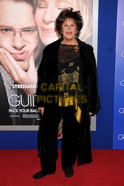 "Lainie Kazan.""The Guilt Trip"" Los Angeles Premiere held at the Regency Village Theatre, Westwood, California, USA..December 11th, 2012.full length sheer gold top trousers black sheer.CAP/ADM/BP.©Byron Purvis/AdMedia/Capital Pictures."