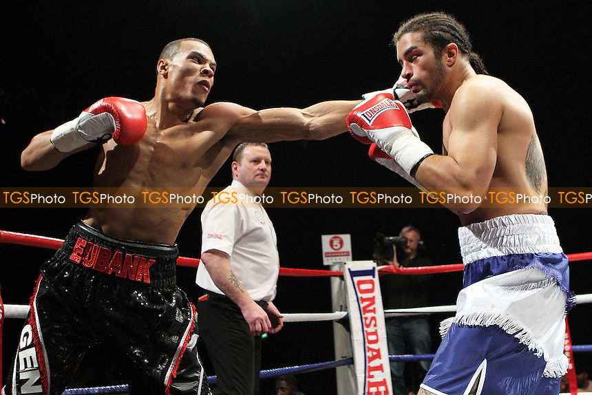 Chris Eubank Jr fights Jason Ball  in a middleweight Boxing contest at the Magna Centre, Rotherham, promoted by Hennessy Sports - 18/02/12 - MANDATORY CREDIT: Chris Royle/TGSPHOTO - Self billing applies where appropriate - 0845 094 6026 - contact@tgsphoto.co.uk - NO UNPAID USE..