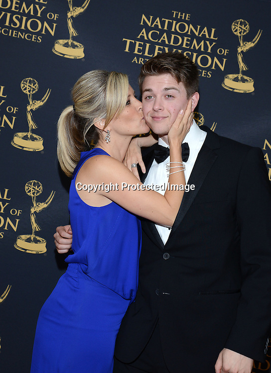 Laura Wright and Chad Duell  attends the Daytime Emmy Creative Arts Awards Press Room on April 24, 2015 at the Universal l Hilton in Universal City,<br /> California, USA.