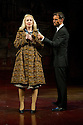 """London, UK. 31/10/2011. Ex Wet Wet Wet front man, Marti Pellow joins the cast of """"Blood Brothers"""" as the Narrator. Picture shows: Vivienne Carlyle as Mrs Johnston and Marti Pellow as Narrator. Photo credit: Jane Hobson"""