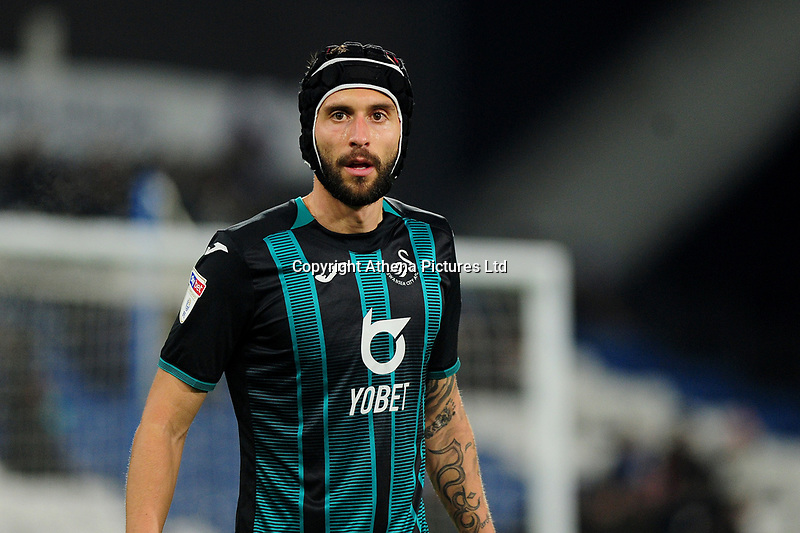 Borja Baston of Swansea City during the Sky Bet Championship match between Huddersfield Town and Swansea City at The John Smith's Stadium in Huddersfield, England, UK. Tuesday 26 November 2019
