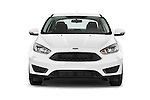 Car photography straight front view of a 2015 Ford Focus SE Sedan 4 Door Sedan Front View