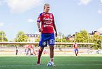 Stockholm 2015-07-11 Fotboll Damallsvenskan Hammarby IF DFF - Vittsj&ouml; GIK :  <br /> Vittsj&ouml;s Therese Bj&ouml;rck med ett bandage och en kylp&aring;se p&aring; v&auml;nster fot efter matchen mellan Hammarby IF DFF och Vittsj&ouml; GIK <br /> (Foto: Kenta J&ouml;nsson) Nyckelord:  Fotboll Damallsvenskan Dam Damer Zinkensdamms IP Zinkensdamm Zinken Hammarby HIF Bajen Vittsj&ouml; GIK skada skadan ont sm&auml;rta injury pain depp besviken besvikelse sorg ledsen deppig nedst&auml;md uppgiven sad disappointment disappointed dejected