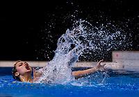 Zyleika Pratt-Smith (Tauranga Synchro). Day Two of the 2018 North Island Synchronised Swimming Championships at Wellington Regional Aquatics Centre in Wellington, New Zealand on Sunday, 20 May 2018. Photo: Dave Lintott / lintottphoto.co.nz