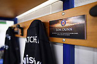 A general view of Tom Dunn's spot in the Bath Rugby changing rooms. European Rugby Champions Cup match, between Benetton Rugby and Bath Rugby on January 20, 2018 at the Municipal Stadium of Monigo in Treviso, Italy. Photo by: Patrick Khachfe / Onside Images