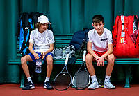 Wateringen, The Netherlands, December 15,  2019, De Rhijenhof , NOJK juniors doubles 12/14/16  years, Marko Knezevic (NED) and Luka Nicolic (NED)<br /> Photo: www.tennisimages.com/Henk Koster