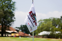 A pin flag on the 1st green during previews ahead of the Magical Kenya Open, Karen Country Club, Nairobi, Kenya. 12/03/2019<br /> Picture: Golffile | Phil Inglis<br /> <br /> <br /> All photo usage must carry mandatory copyright credit (&copy; Golffile | Phil Inglis)
