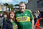 17-1-2017: John and Kathleen Horan parents of Kerry minors Eddie and Sean pictured at the All-Ireland Football final at Croke Park on Sunday.<br /> Photo: Don MacMonagle